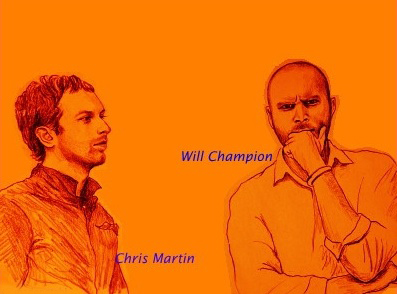 """Chris Martin & Will Champion"" by Kanoko"