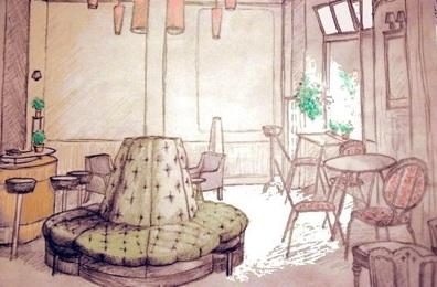 """""""Cafe Wohnzimmer / Berlin"""" by Kanoko"""
