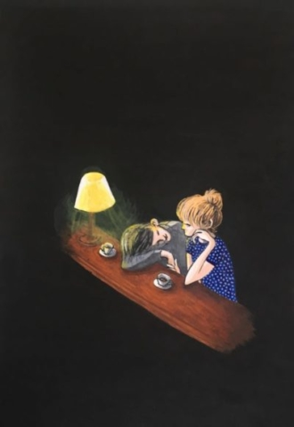 """Girlfriend image"" illustrated by kahoko"