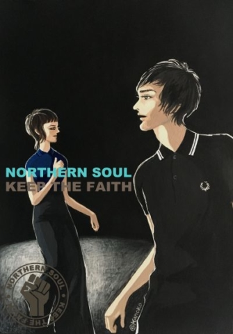 """NORTHERN SOUL image Ver2"" illustrated by kahoko"