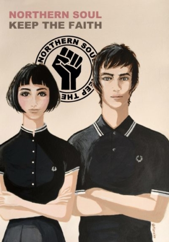 """NORTHERN SOUL image Ver1"" illustrated by kahoko"