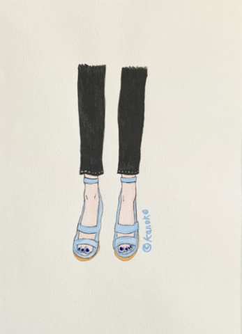 """Skinny-Ice Blue image"" illustrated by kahoko"